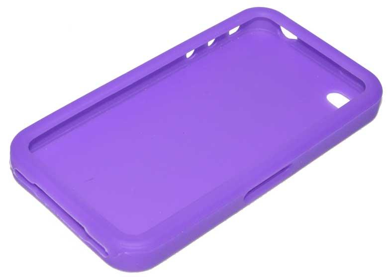 silikon case tasche etui h lle f r apple iphone 4 lila ebay. Black Bedroom Furniture Sets. Home Design Ideas