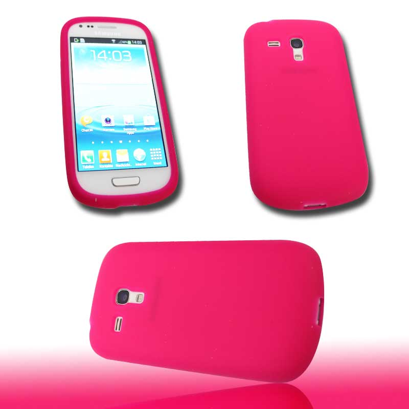 silikon case handy tasche samsung galaxy s3 mini i8190. Black Bedroom Furniture Sets. Home Design Ideas