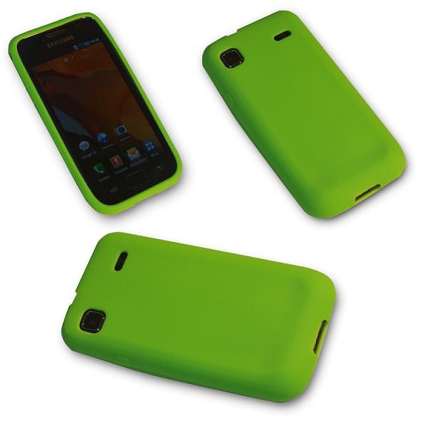 Silikon-Case-Handy-Tasche-f-Samsung-Galaxy-S-Plus-I9001-in-Grun-Hulle-Case